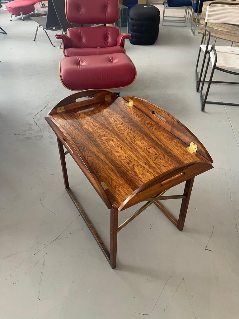 Svend Langkilde Rosewood Tray Table In Good Condition For Sale In Palm Springs, CA