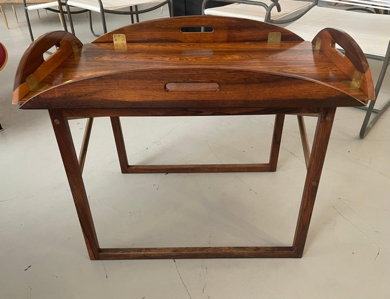 Svend Langkilde Rosewood Tray Table For Sale 2