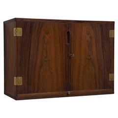 Svend Langkilde Wall Mounted Bar Cabinet in Rosewood