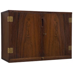 Svend Langkilde Wall-Mounted Bar Cabinet in Rosewood