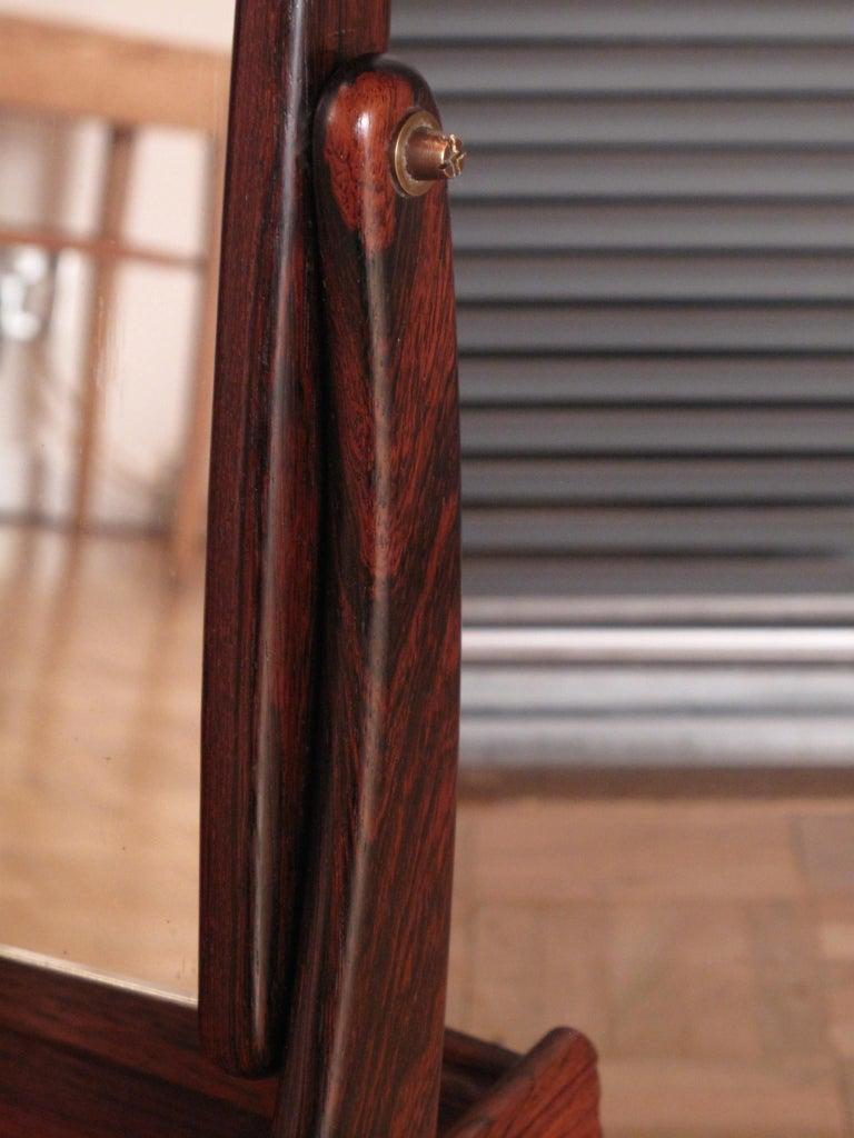Danish Svend Madsen Rosewood Wall Mounted Vanity Unit For Sale