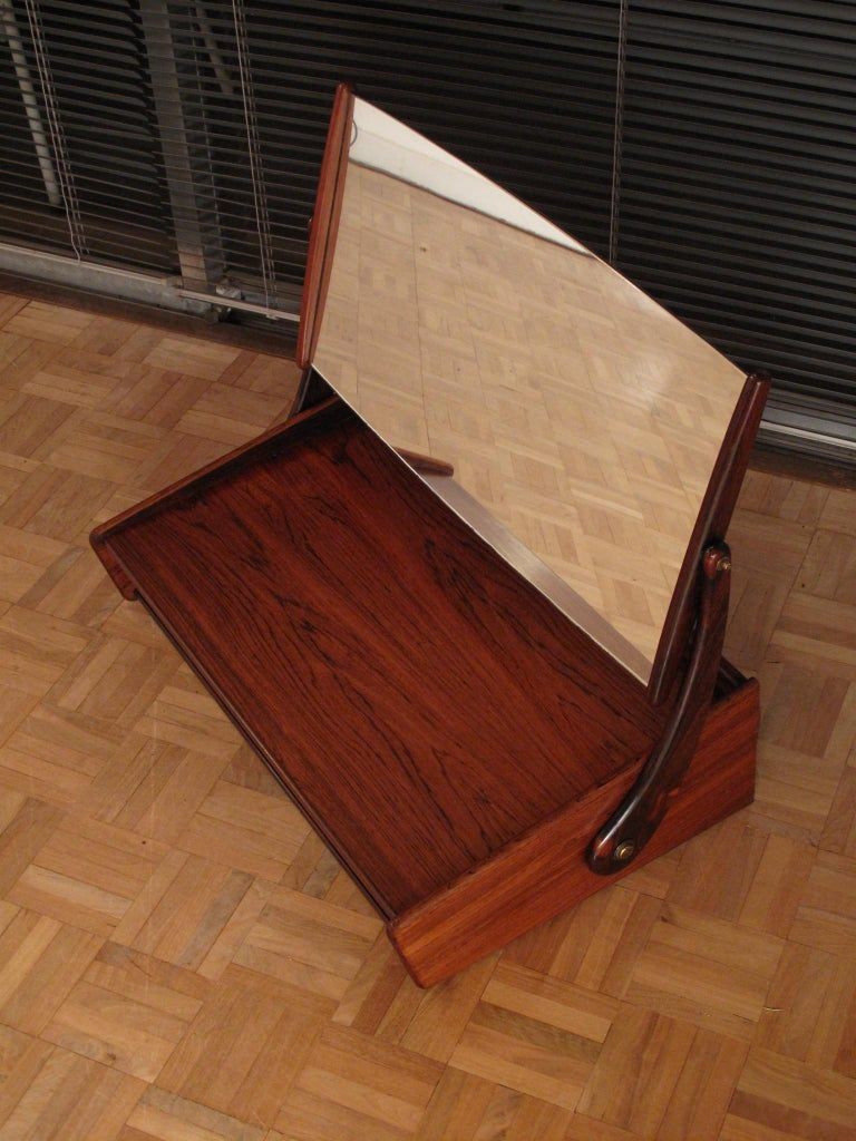 Mid-20th Century Svend Madsen Rosewood Wall Mounted Vanity Unit For Sale