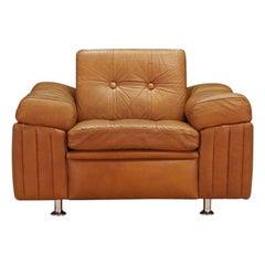 Svend Skipper Brown Leather Armchair 1960s Vintage