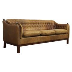 Svend Skipper Danish Leather Sofa
