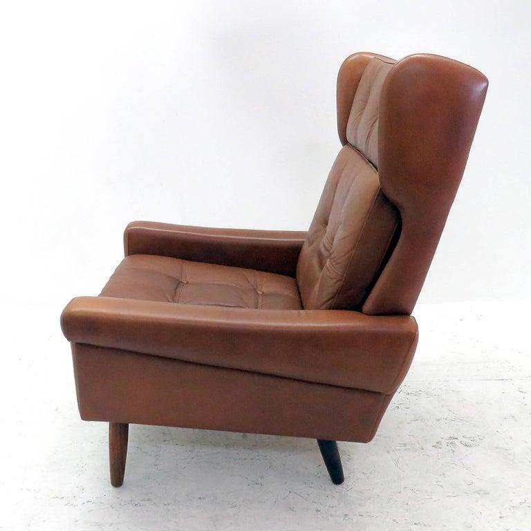 Danish Svend Skipper Wingback Lounge Chair, 1960 For Sale