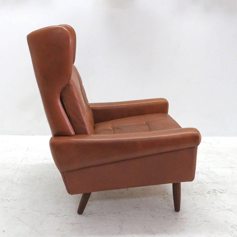 Stained Svend Skipper Wingback Lounge Chair, 1960 For Sale