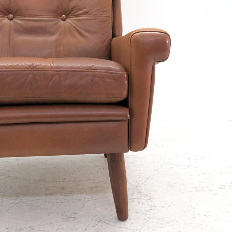Mid-20th Century Svend Skipper Wingback Lounge Chair, 1960 For Sale