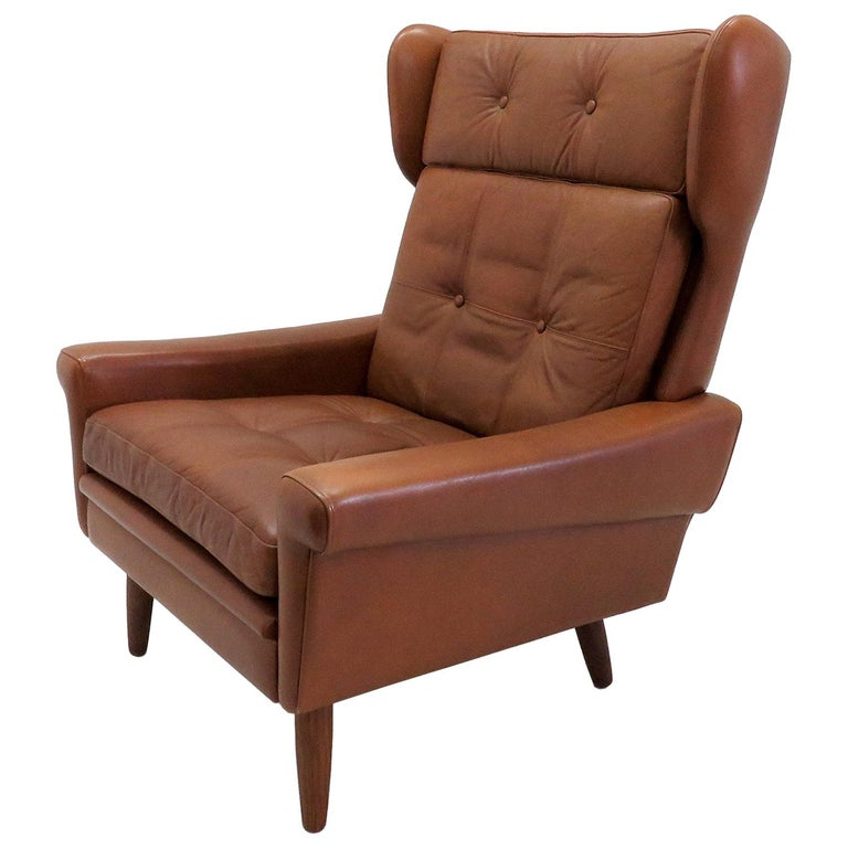 Svend Skipper Wingback Lounge Chair, 1960 For Sale