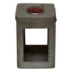 Svenskt Tenn, Swedish Pewter Cigarette Box with an Agate