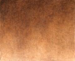 Burnt Orange Minimalist Monochrome Textured Contemporary Abstract Painting 59x72