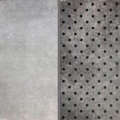 """Disappearance of Appearance"" Oversized (96x96)  Black & White Polka Dot Diptych"