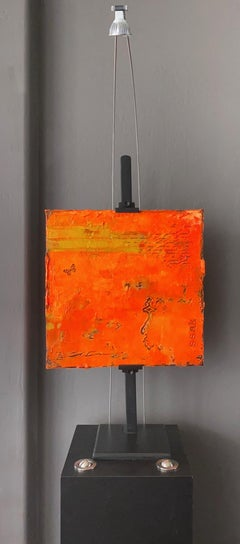"""Marks of Life"" series #2 Mixed Media Minimalist Contemporary Textural Abstract"