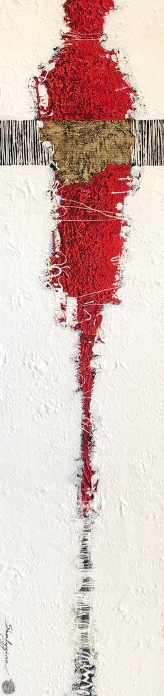 """Svetlana Shalygina. """"The Archetype"""" series #10. Abstract figurative mixed media"""