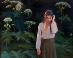 Girl in Hogweed - 21st Century Contemporary Oil Painting by Svetlana Tartakovska