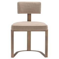 Sveva Chair in Corno Italiano with gloss finish and Burnished Metal, Mod. 6042B