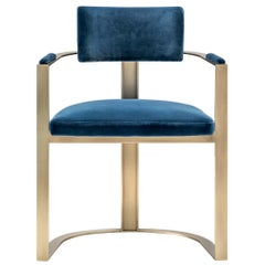 Sveva Chair in Matte Horn and Satin Metal, Mod. 6043D
