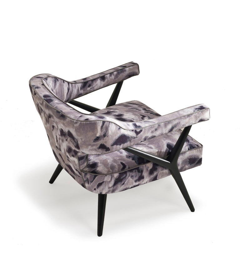 Modern SW2 Lounge Armchair in Fabric For Sale