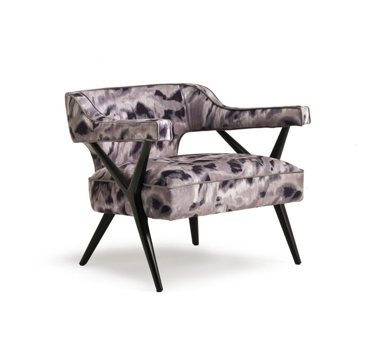 Italian SW2 Lounge Armchair in Fabric For Sale