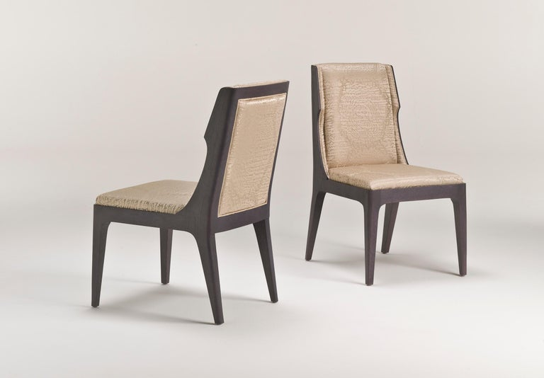 Modern SW6 Wooden Chair in Beige For Sale