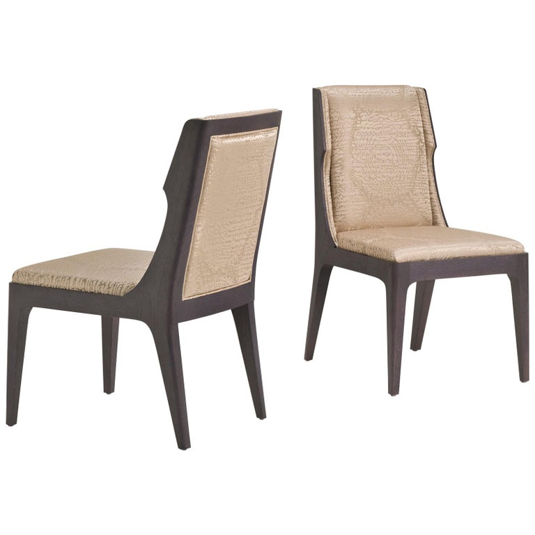 SW6 Wooden Chair in Beige For Sale