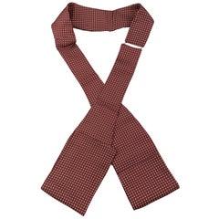 SWAINE ADENEY BRIGG Dots Burgundy Silk Ascot Scarf