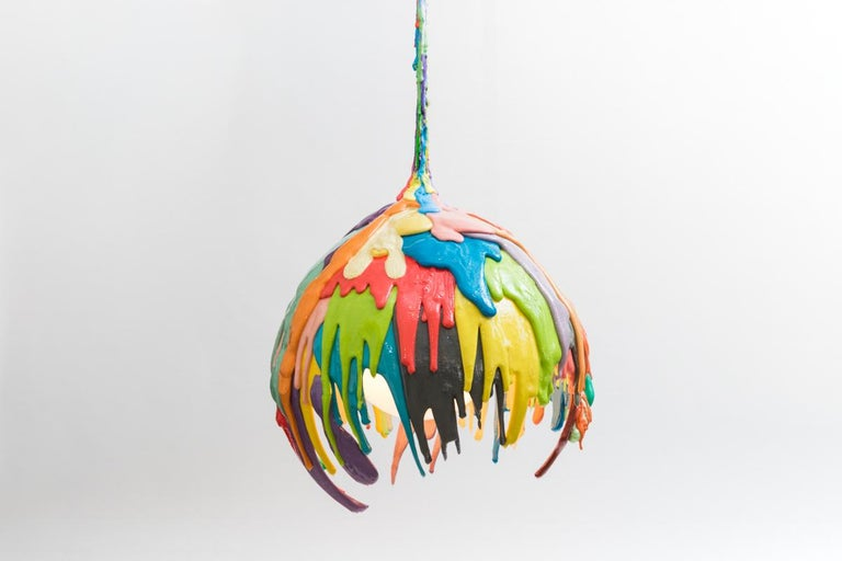 Glass Swamp Pet Chandelier, USA For Sale