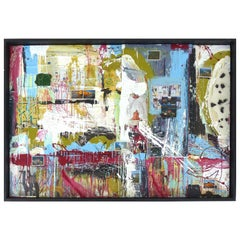 """William P. Montgomery Abstract Mixed Media Painting """"Swamp Talk 2/2"""", 2015"""