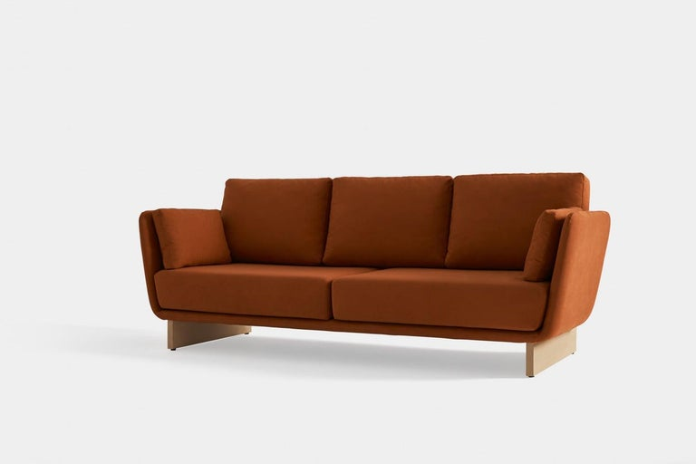 Modern Swan Sofa with Wooden Legs by Pepe Albargues For Sale