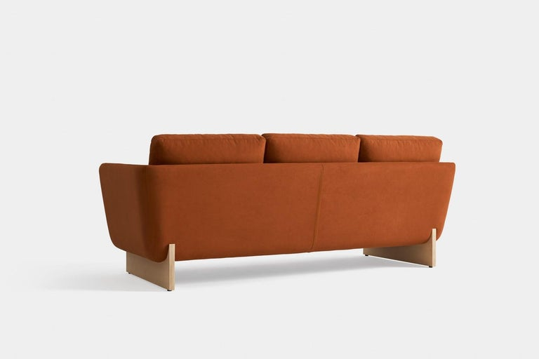 Spanish Swan Sofa with Wooden Legs by Pepe Albargues For Sale