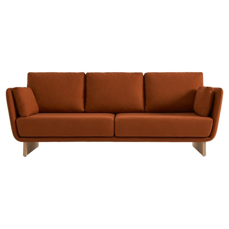 Swan Sofa with Wooden Legs by Pepe Albargues For Sale