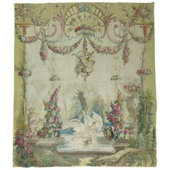 Swans Ducks 18th Century Aubusson French Tapestry Panel
