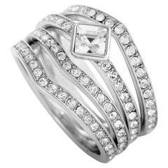 Swarovski Alpha Rhodium-Plated Crystal Three Ring Set
