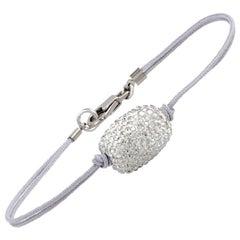 Swarovski Atelier Crystal Pave Bead Cord Bracelet 5233787-M Medium