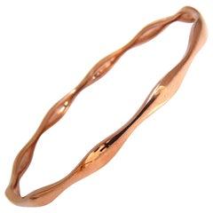 Swarovski Bangle Bracelet 14 Karat Authentic Large Wrist