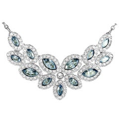 Swarovski Baron Rhodium-Plated Crystal Necklace