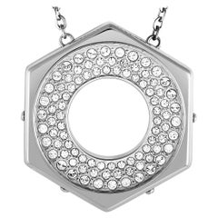 Swarovski Bolt Stainless Steel and Crystal Pave Pendant Chain Necklace