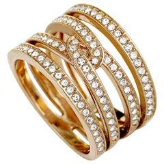 Swarovski Creativity Rose Gold-Plated Crystal Wide Ring