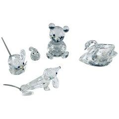 Swarovski Crystal Animal Figurines Set of 5