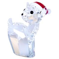 Swarovski Crystal Christmas Doe with Santa Hat Figurine