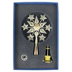 Swarovski Crystal Figurine Christmas Tree Topper Set, Retired