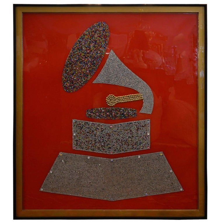 Swarovski Crystal Grammy by Mauro Oliveira For Sale