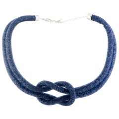 Swarovski Crystals Stardust Blue Knot Necklace