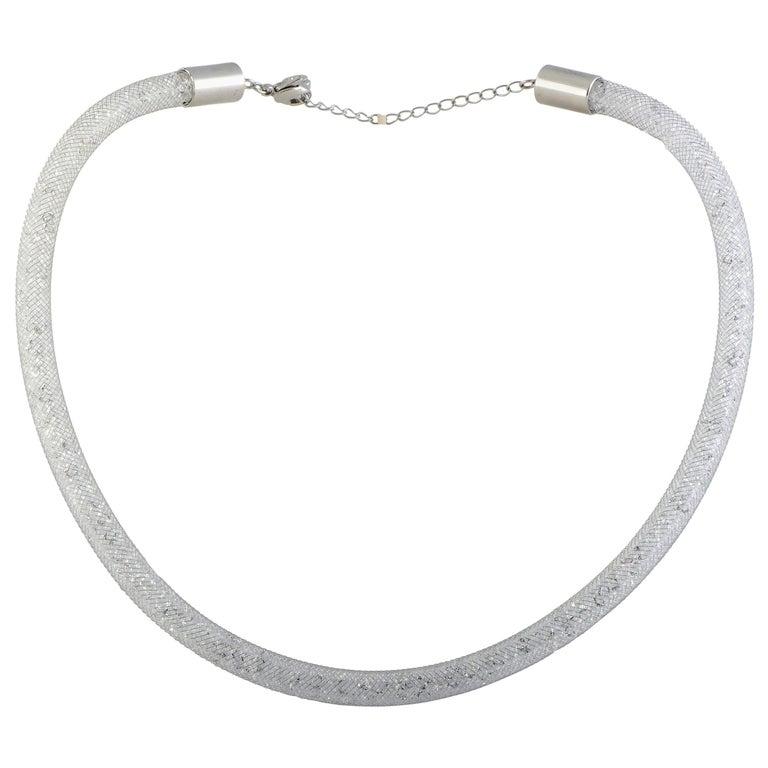 Swarovski Crystals Stardust White Necklace For Sale