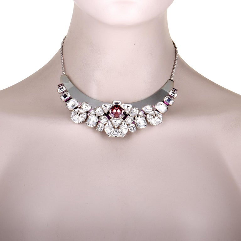 If you wish to add a compellingly fashionable touch to your look then this fabulous statement piece is an exquisite choice. Presented by Swarovski, the necklace boasts an incredibly attractive design that is topped off with a resplendent blend of