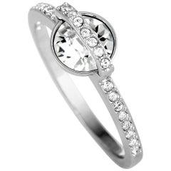 Swarovski Favor Rhodium-Plated Crystal Ring