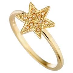 Swarovski Field Yellow Gold-Plated Crystal Star Ring