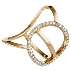 Swarovski Flash Rose Gold-Plated Crystal Ring