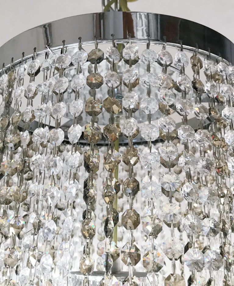 Modern Swarovski Flush Mount by Fabio Ltd For Sale