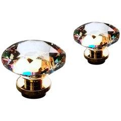Swarovski for Dornbracht Cut Crystal and Polished Brass Fixture Handle Knob