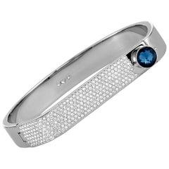 Swarovski Forward Stainless Steel and Crystal Bangle Bracelet